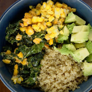 COOKING QUINOA – KALE AND COCONUT MILK ADDED.