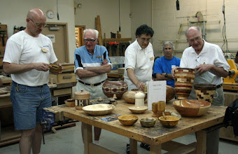 Photo: Camaraderie around the S&T table - Don Van Ryk, Steve Balaban, Clif Poodry, Denis Zegar, and Stan Sherman. [08.06]