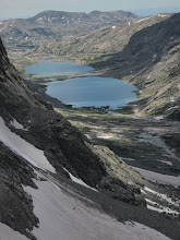 Photo: Titcomb Basin back in sight, our tents was wayyyyyy down there.