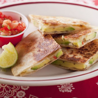 Mixed Cheese and Avocado Quesadillas