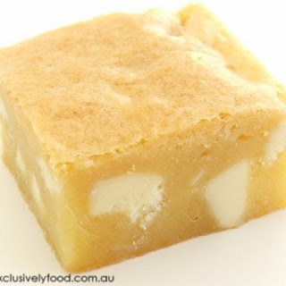 White Chocolate and Macadamia Blondie