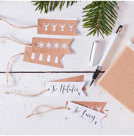 Etiketter - Rustic Christmas.