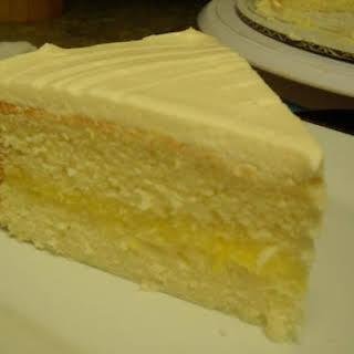 Southern Lemon White Cake with Lemon Curd.