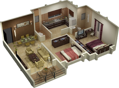 Maison de chauss e plans 3d applications android sur for Sweet home 3d modele maison