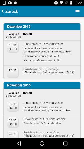 android N B A Freising Steuer App Screenshot 3