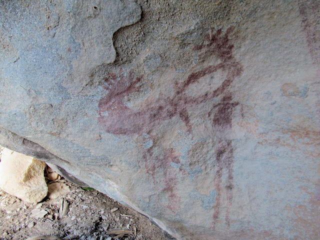 Strange pictographs