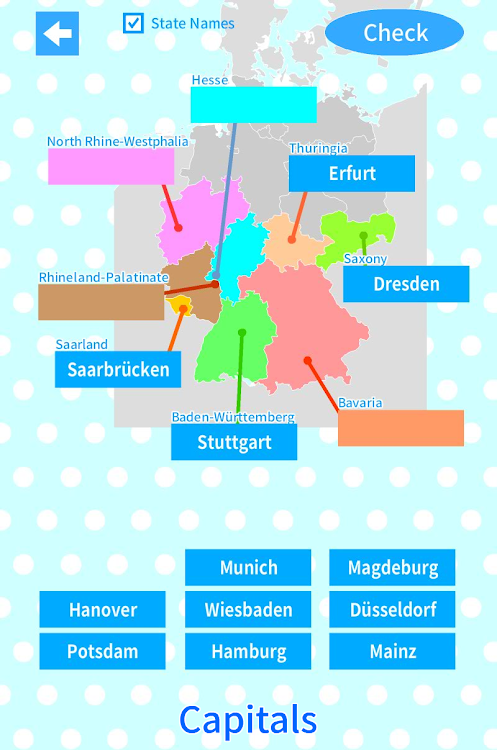 Germany States Map Quiz – (Android Applications) — AppAgg