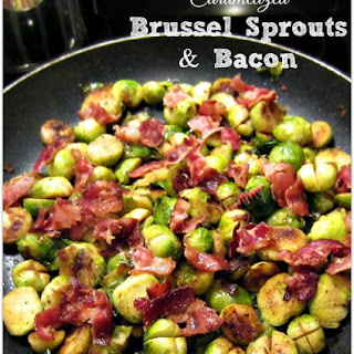CARAMELIZED BRUSSEL SPROUTS & BACON