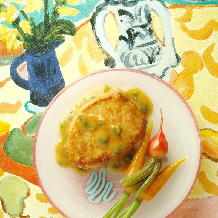 Ginger-Mustard Pork Chops