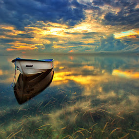 Almost Rain by Agoes Antara - Transportation Boats