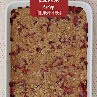 Strawberry Rhubarb Crisp {Gluten-free}