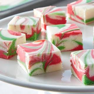 3-Ingredient Christmas Swirl Fudge.