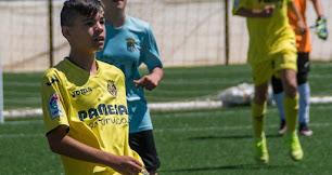 Denis Martín vistiendo la camiseta del Villarreal.