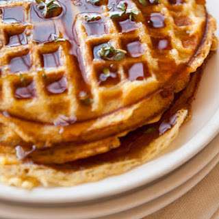 Cornmeal-Bacon Waffles