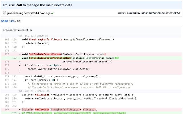 GitHub File Diff