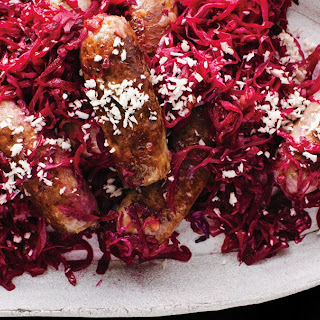 Bratwurst and Red Cabbage.