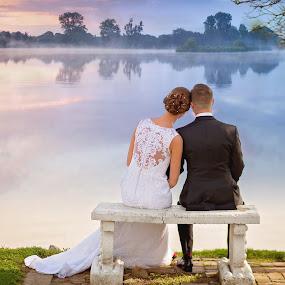 by Melanie Ayers Wells-Photography - Wedding Bride & Groom ( newburgh indiana, wedding photography, www.melaniewellsphotography.com, wedding photographer, bride and groom, evans wedding )