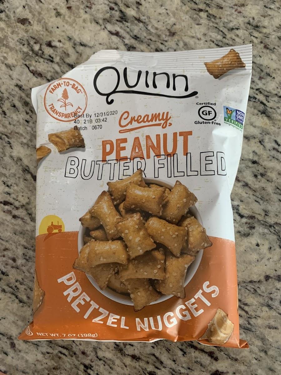 Creamy Peanut Butter Filled Pretzel Nuggets