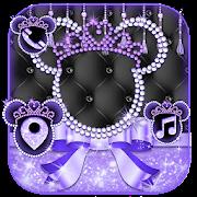 Glitter Purple Bow Kitty Theme