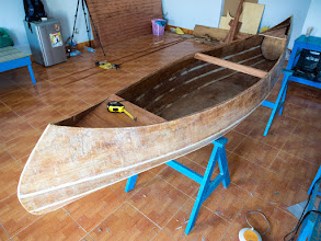 Photo: all thwarts fitted, now preparing the forward & aft decks