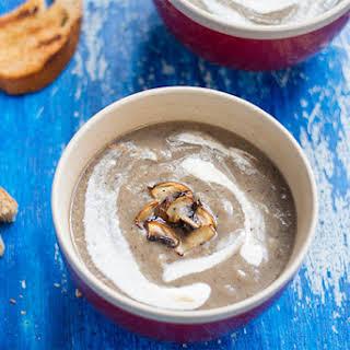 Healthy Creamy Mushroom Soup.