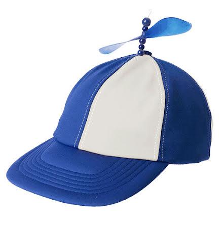 Propellerkeps, blå/vit