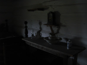 Photo: inside Alfred's cabin