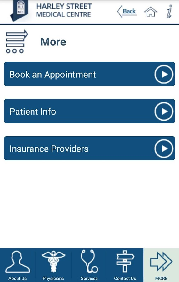 Harley Street Medical Centre- screenshot