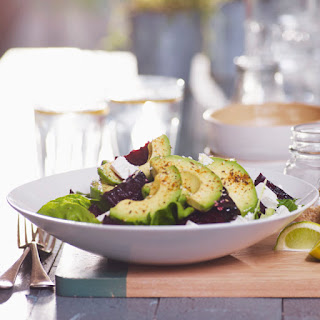 Spiced Avocado & Roasted Beetroot Salad with Feta