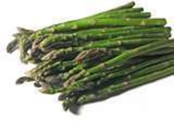 While the dough is baking, boil the asparagus in water for 3 minutes and...