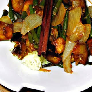 Silky Aubergine With Asian Flavours.