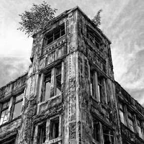 at the corner of kota toea 2 by Norbertus Andreanto Photos - Buildings & Architecture Public & Historical ( pwcbuilding, pwcbuilding black and white )