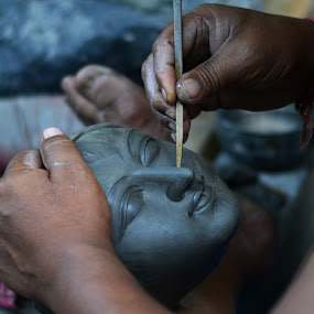 Engrossed by Rakesh Das - Artistic Objects Other Objects ( goddess durga )