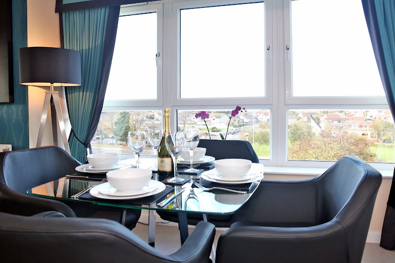 Dining space at Luxury Aberdeen Airport Accommodation