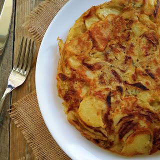 Vegan Spanish Omelet with Caramelized Onion, Roasted Garlic and Rosemary Recipe