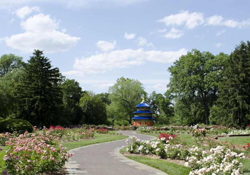 Photo: The Heavenly Temple, part of Lantern Festival: Art by Day, Magic by Night, prepares to light up the Lehmann Rose Garden all summer long.