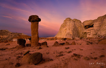 Photo: Mighty King @ Toadstools, Utah#landscapephotography  #photographyworkflow  #photograhytips BEST VIEWED LARGEI can spend all day photographing the Toadstools and never get tired of it. This area is amazing and the variety of hoodoos and formation in the region is awesome. On this day We arrived early to photograph this location and the light show did not disappoint.How was this image created?I used a manual blend (iHDR workflow) to balance out the light between the sky and the foreground. Why did I not use the GND filters? Because it would have darkened to top of the mountains and hoodoos. The composition was selected so that the large red hoodoo stands out. Was is effective?Enjoy & Share._______