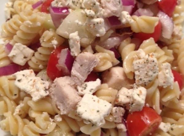 Pasta Salad With Chicken, Cucumber, Cherry Tomato Recipe