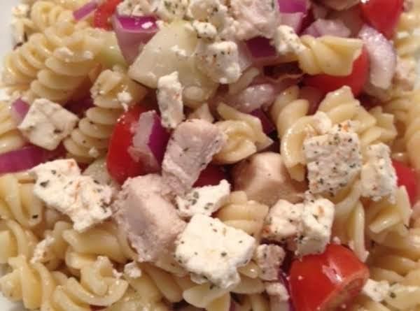 Pasta Salad With Chicken, Cucumber, Cherry Tomato