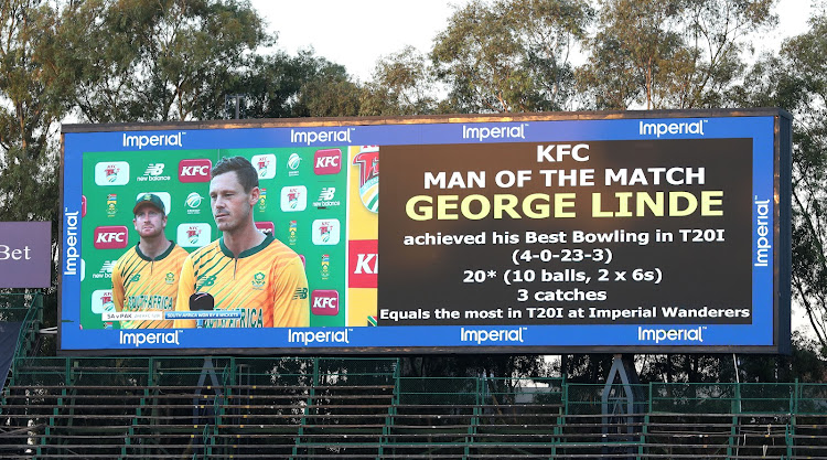 George Linde played out of his skin to deservedly earn his man of the match award.