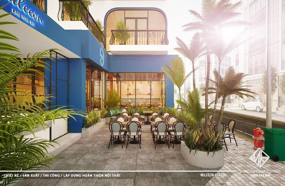 Thiết kế quán cafe đẹp sang trọng 2021 trên 500 triệu