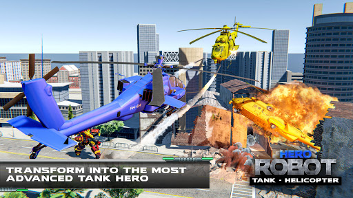 Helicopter Transform War Robot Hero: Tank Shooting 1.1 screenshots 14