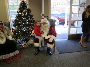Photo: With Santa at Christmas in the Village, 2013
