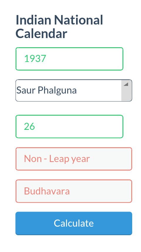 Indian National Calendar- screenshot