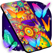 Neon Butterflies Wallpaper \ud83e\udd8b Free Live Wallpapers