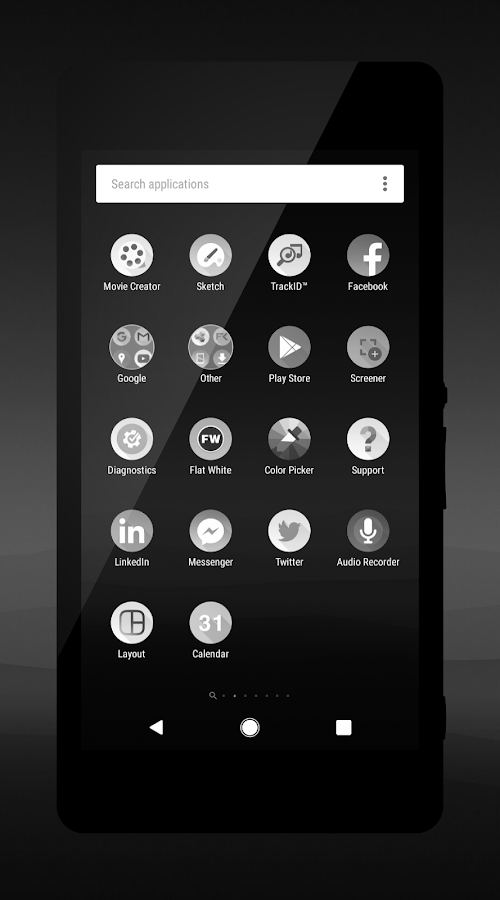 Pixel Black Theme- screenshot