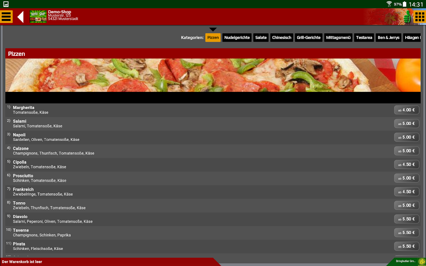 Bringbutler - Pizza, Pasta, ..- screenshot