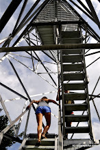 Photo: Climbing the fire tower at Allis State Park by Summer Wuerthner
