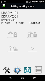 Fronti FS330A IOT Alarm Setting APP - náhled
