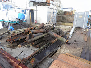 Photo: Scrap steel awaiting removal from site